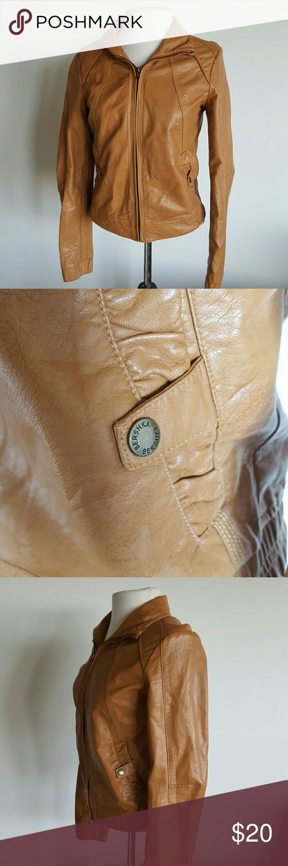 Camel colored members only style women's jacket Great jacket zip up, 2 button pockets , no years or rips. Size medium women's. Members only style. Urban Outfitters Jackets & Coats