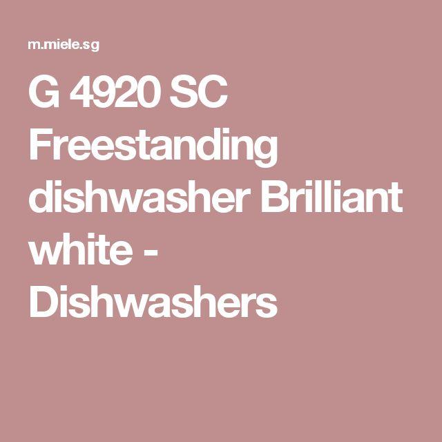 G 4920 SC Freestanding dishwasher Brilliant white - Dishwashers