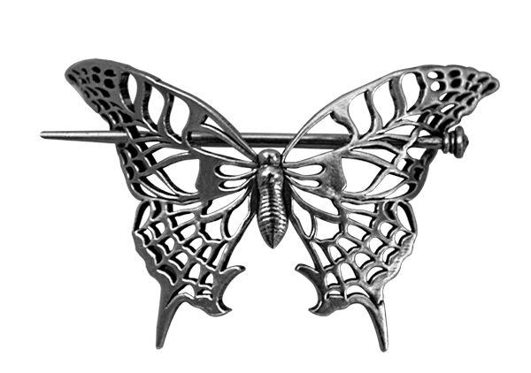 Hair Stick   Britannia Metal   Butterfly   Oberon Design