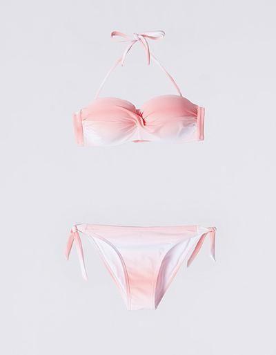Biquini bandeau franzido tie dye | Bikinis | BEACH DAYS | SHOP ONLINE SUITEBLANCO.COM #swimwear #beachtrip #vacation #sunny #women #covetme
