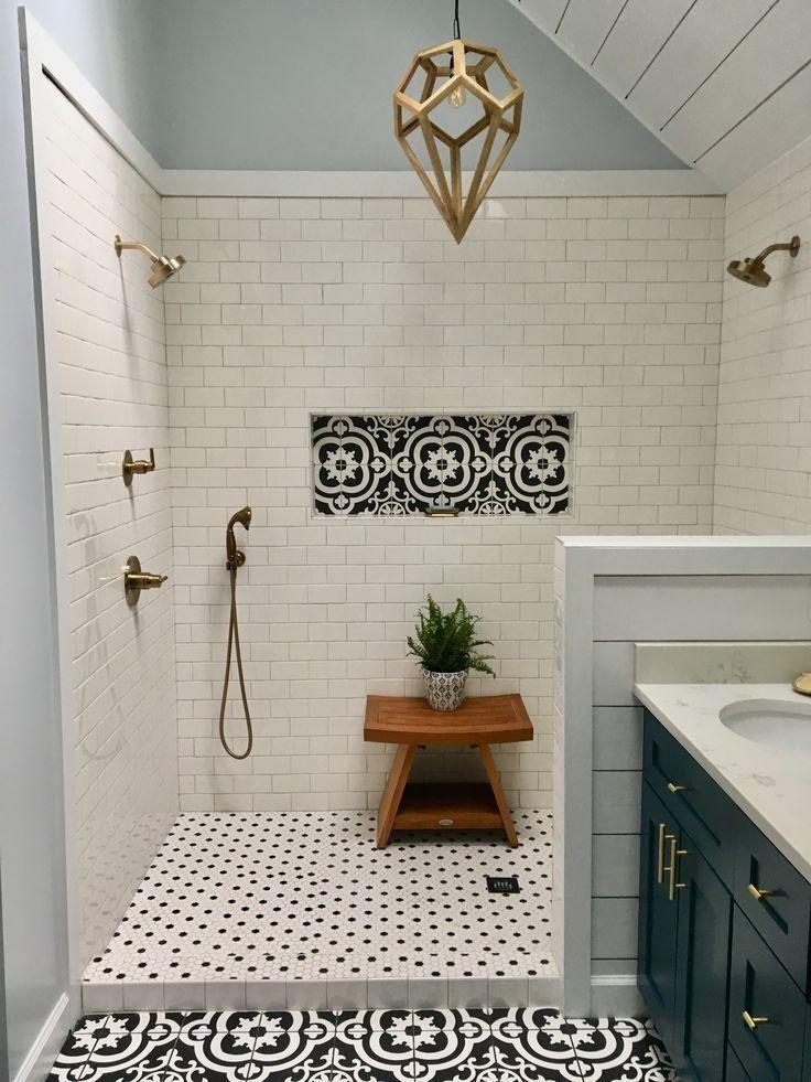 My Master Bath Remodel Large Dual Head Shower Wh Bath Dual Hgtv Large Master Remodel Sho Best Bathroom Tiles Shower Remodel Bathroom Tile Designs