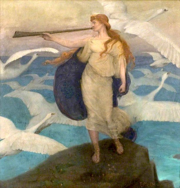 Thomas Millie Dow (1848-1919), The Herald of Winter - 1894