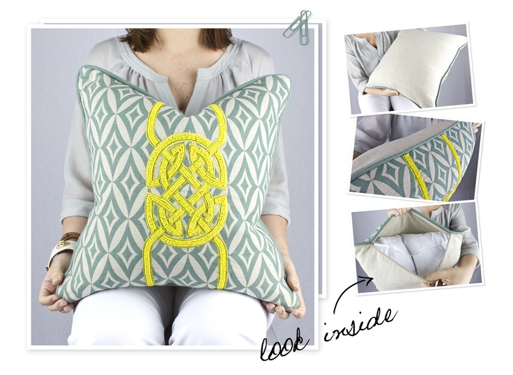 #Pillow Tribal Mei Beaded Pillow