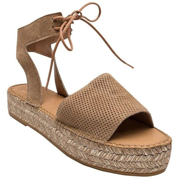 Andre Assous Sabina Open-Toe Flatform Espadrilles (3,155 MXN) ❤ liked on Polyvore featuring shoes, sandals, camel, espadrille flatforms, andre assous espadrilles, beaded shoes, andre assous shoes and espadrille sandals