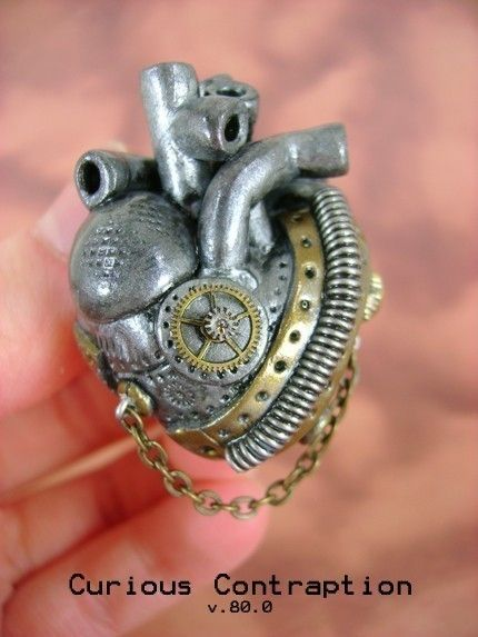 CHOOSE AN Industrial Heart Necklace - Over 110 Designs - Anatomically Correct Industrial Heart Necklace - Industrial Heart Collection $55  AWESOME!!!!!!!!