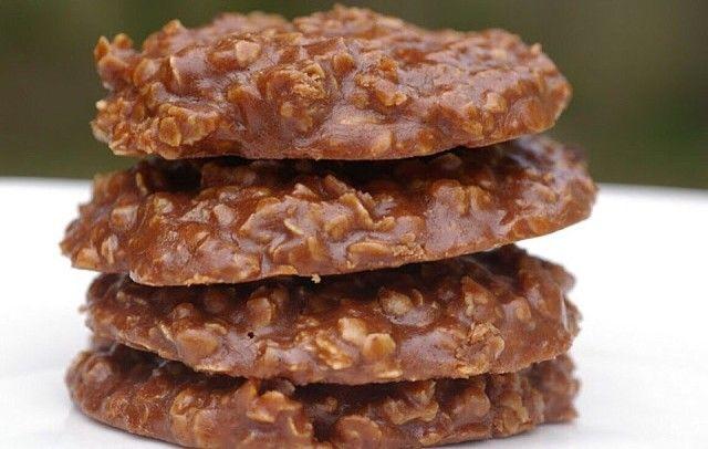 Шоколадное овсяное печенье на завтрак.