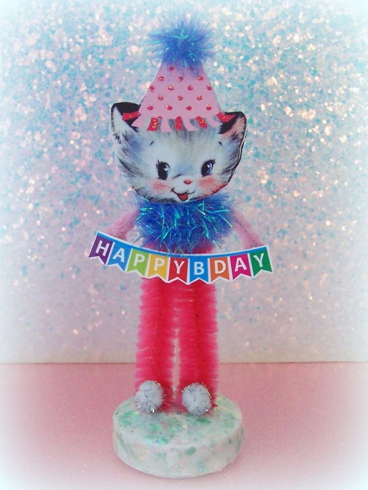 Vintage Birthday Kitten Keepsake Figure Cake Topper | Collectibles, Animals, Cats | eBay!