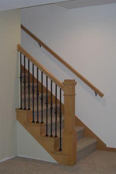 Best 25 wall mounted handrail ideas on pinterest stair handrail stair handrail brackets and for Exterior wall mounted handrails for stairs