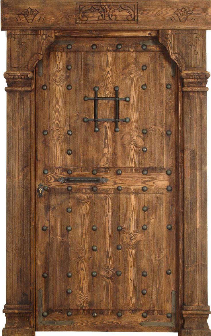 M s de 25 ideas incre bles sobre puertas de hierro forjado for Puertas de madera rusticas para interiores