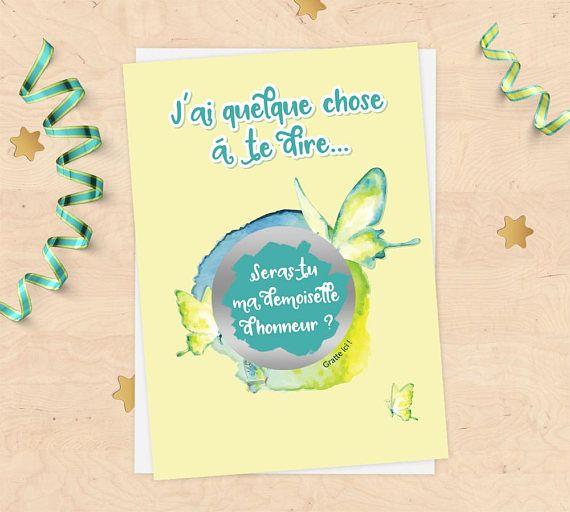 Les 25 meilleures id es de la cat gorie cartes de demoiselle d 39 honneur su - Demande de carte aurore ...