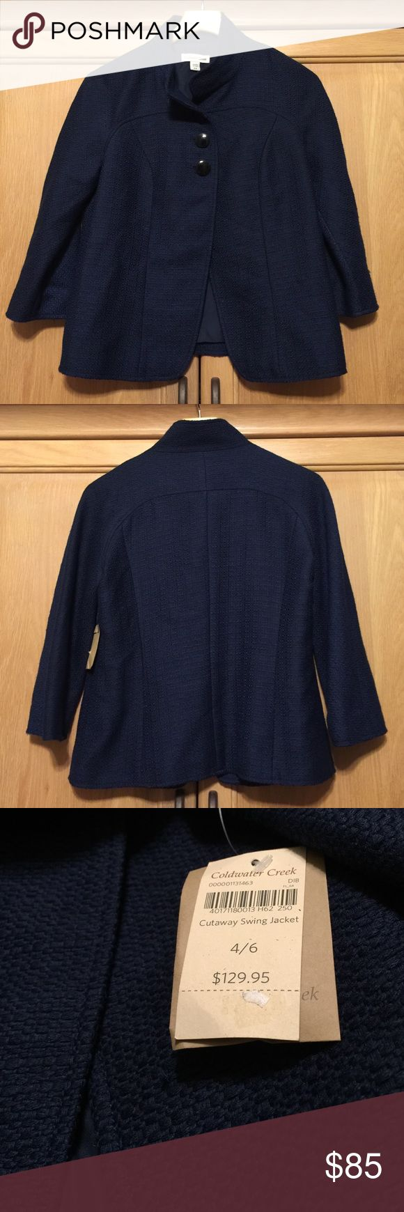 Coldwater Creek Cutaway Swing Jacket NWT! Coldwater Creek Jackets & Coats