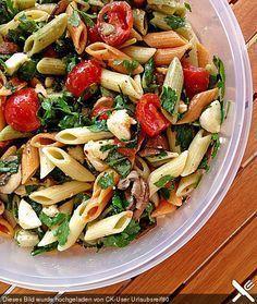 Mozarella-Nudel-Salat #Rezept
