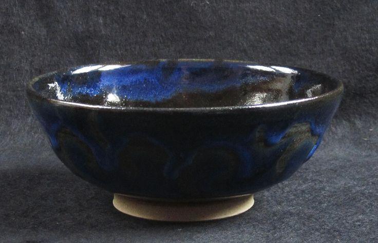 Blue-black cobalt over ternmoku