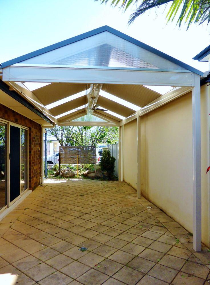 Pergolas / Verandahs Brompton, SA New roof colorbond colour woodland gray over high gloss paperbark