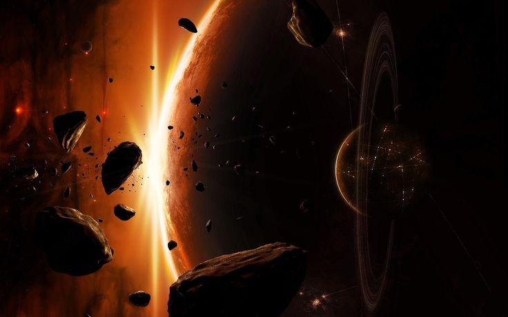 Download Wallpaper Fire Meteor Apocalypse Planet Earth Space