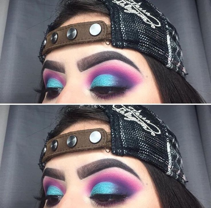 Purple & blue eyeshadow look