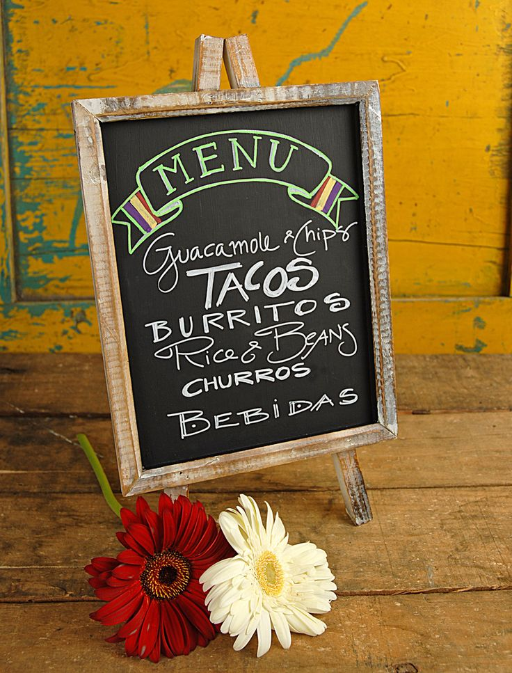 Chalkboard Menu – shared on SaveOnCrafts