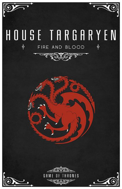 Game of Thrones house posters by Thomas Gateley