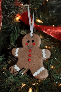 Chocolate Gingerbread Men Ornaments - chocolate gingerbread smells so good too!