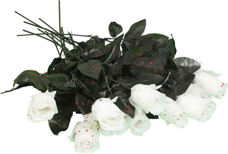 Strössla makabra rosblad i lägenheten och skräm lusten ur din partner redan ikväll!  Rosor är röda, violer är blå. Alla är döda, och du likaså.  En kärleksdikt från oss till dig till din älskling.