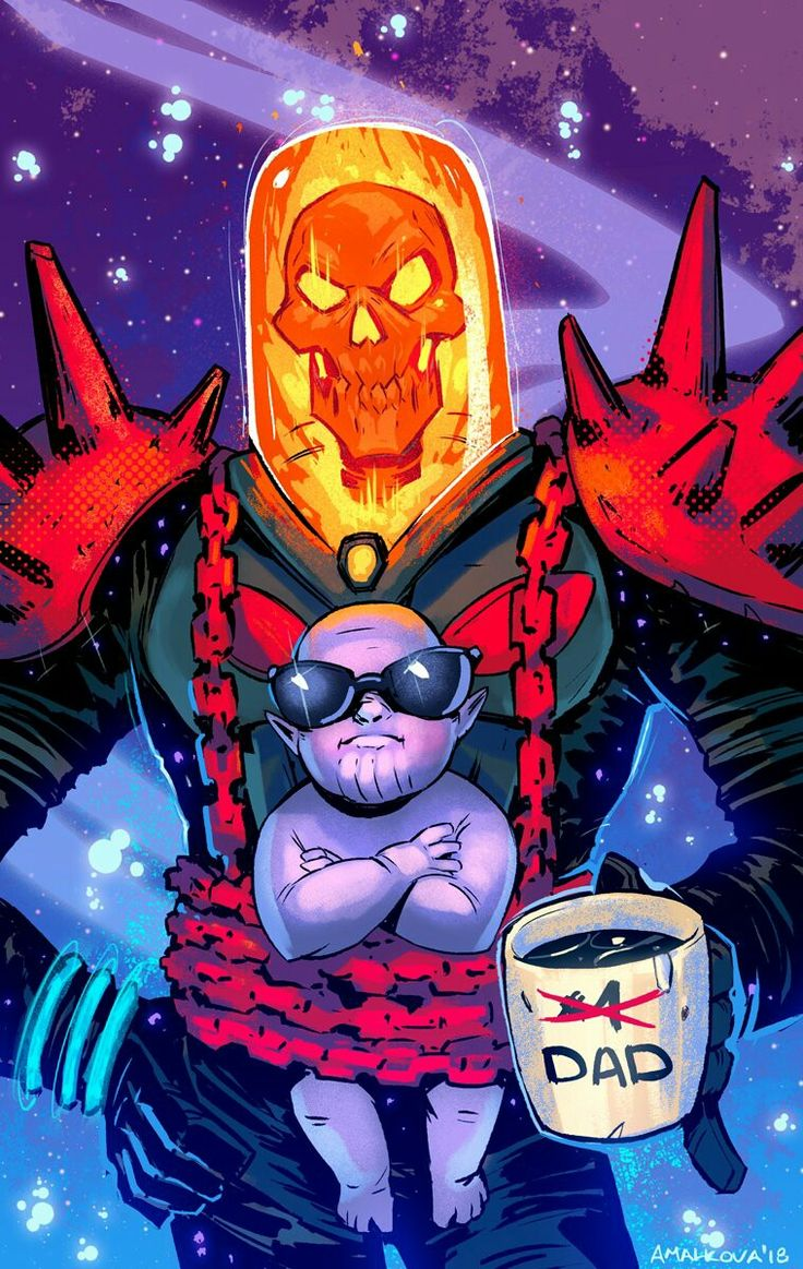 Cosmic Ghost Rider & Baby Thanos by Anna Malkova | Comic ...