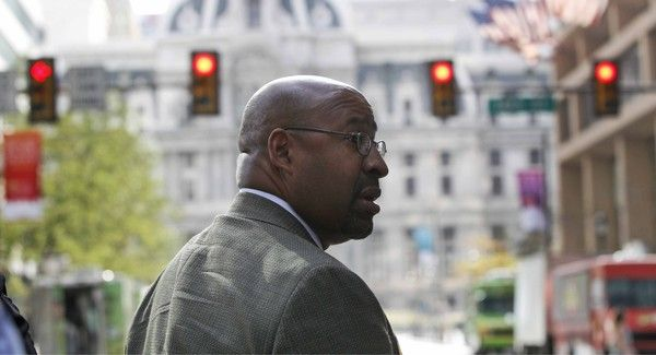 "Mayor Michael Nutter prepares to say ""Later taters"" to Philly residents"