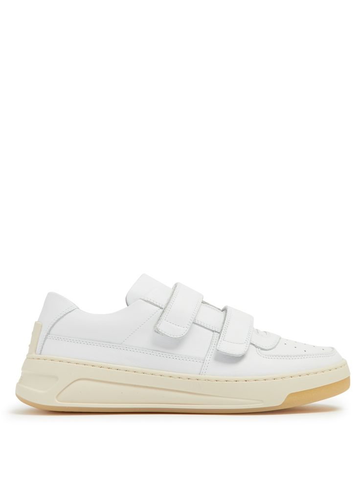 Acne Studios Steffey low-top Velcro-strap leather trainers