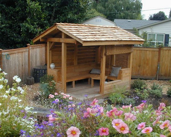 17 best images about tiny tea house on pinterest gardens for Small garden shelter