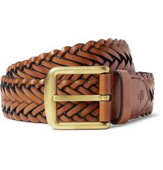 Mulberry4cm Brown Braided Leather Belt