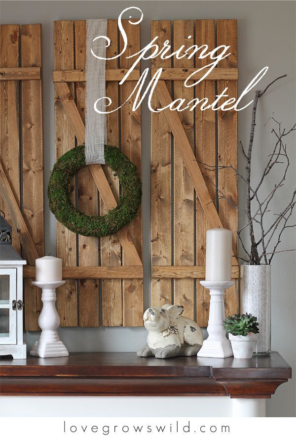 60 Best Spring Mantels Images On Pinterest Fireplace