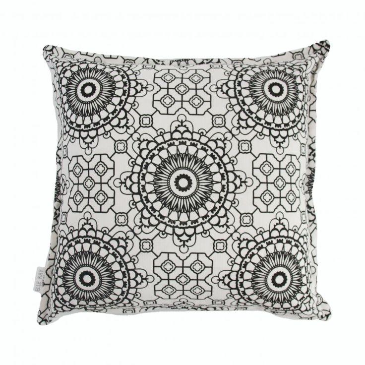Elle Kay Fabrics Mosaic Black Scatter Cushion