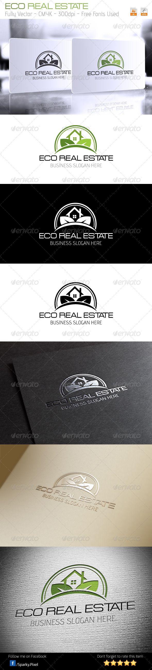 Agri cultures project logo duckdog design - Eco Real Estate Logo