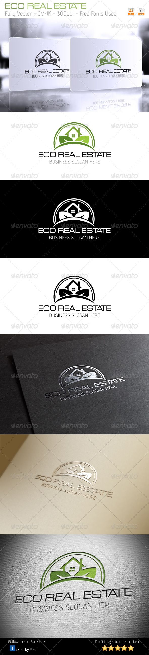 Eco Real Estate Logo #GraphicRiver Eco Real Estate Logo Everything is done in vector, so it is highly customizable and can be resized without loss of quality. Excellent logo,simple and unique. Included : AI, EPS_10. File is easy to editing. Font used : Acens Advent \\ If you buy and like it, please rate it! Thank you ENJOY IT!!!! Created: 4 December 13 Graphics Files Included: Vector EPS #AI Illustrator Layered: Yes Minimum Adobe CS Version: CS Resolution: Resizable Tags agent #agriculture…