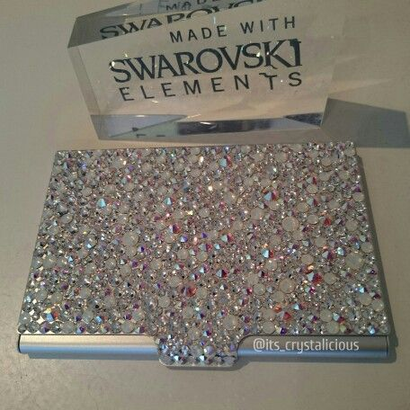 39 best accessories images on pinterest swarovski business card crystalicious luminated business card holder custome made with genuine crystals from swarovski bling colourmoves Image collections