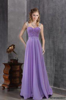 Violet robe de princesse large sangle Robe fond pourpre douce