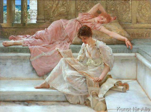 Sir Lawrence Alma-Tadema - A favourite poet