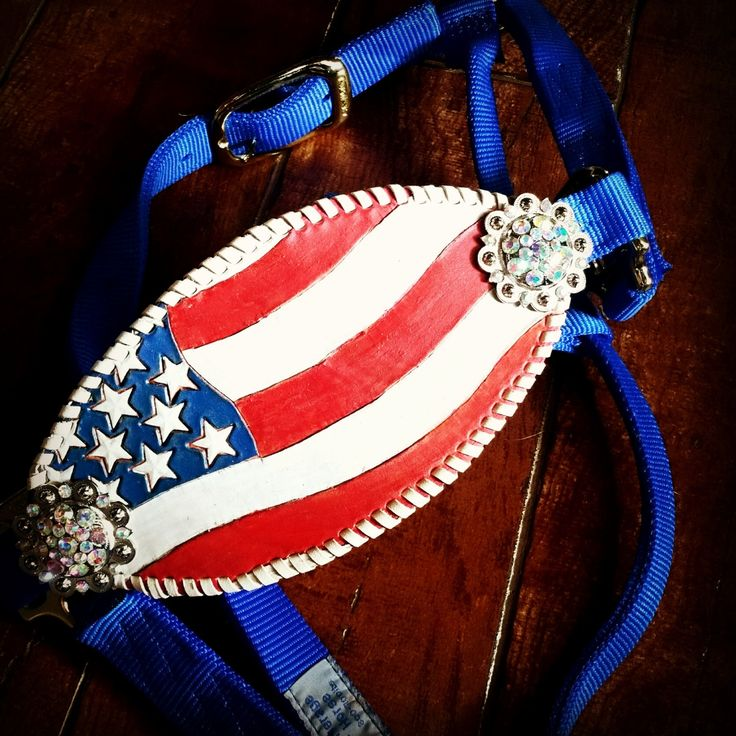 USA Patriotic Horse Halter by KJayeDesign on Etsy