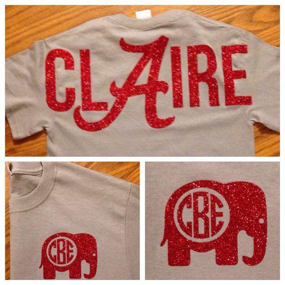 Alabama shirt, Monogrammed, Alabama Football, Initials