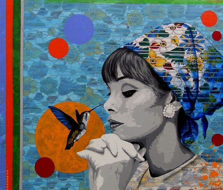 "Saatchi Art Artist: Raquel Gralheiro; Mixed Media 2011 Painting ""Levar a mostarda ao nariz (Lead to the nose)"""