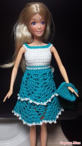 Барби мама - так моя дочь зовет эту куклу Здравствуйте страномамочки! Вставляю на Ваш суд несколько нарядов, которые уже уехали к маленькой хозяйке. 1) Платье.