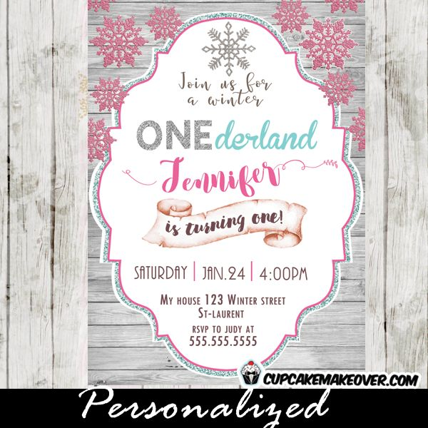 8 best winter onederland birthday party invitations images on, Party invitations