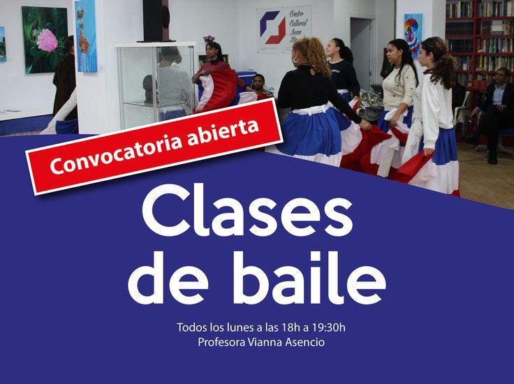 Curso de baile - Inicio de clases todos los lunes de 18 a 19:30 hs. Las claases son impartidas por la profesora Vianna asencio, en el Centro Cultural Juan Bosch.   #Clases de baile #Curso de baile 2017-2018