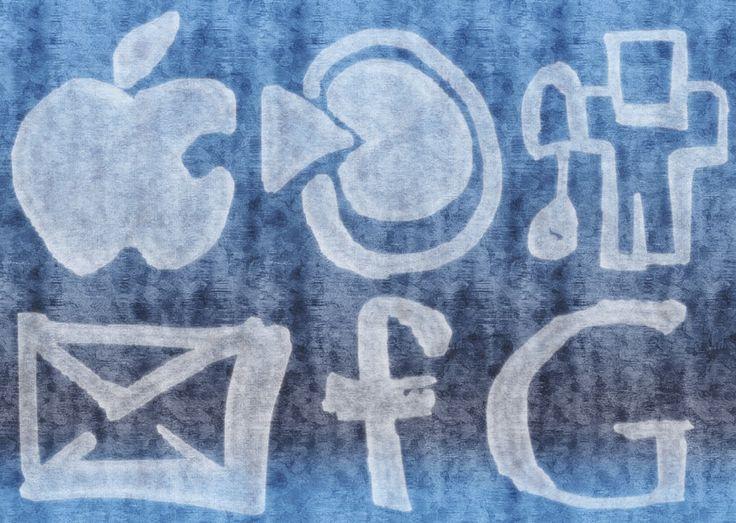 Grunge Social Media Logos