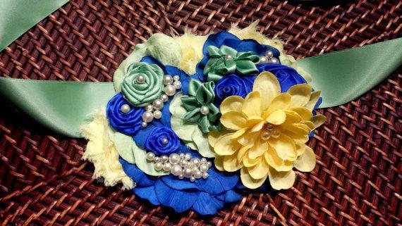 Belly Maternity Sash - green, blue, yellow https://www.etsy.com/listing/185708184/maternity-belly-sash-royal-blue-sage
