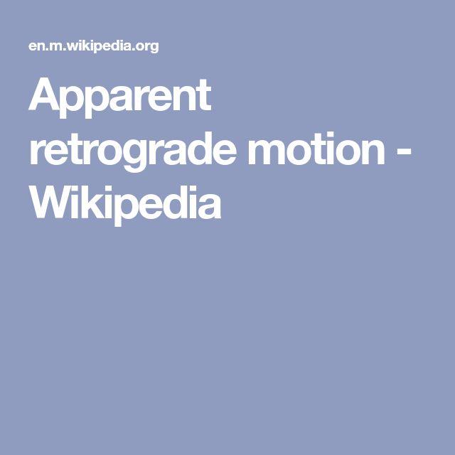 Apparent retrograde motion - Wikipedia