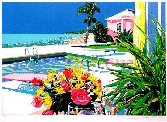 鈴木英人 バミューダ島の午後のひととき