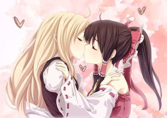 Anime Girl Kiss Girl