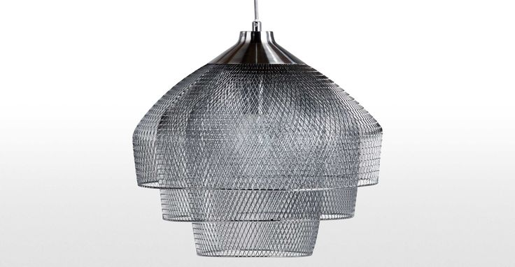 Gable Chandelier Pendant, Brushed and Polished Chrome | made.com