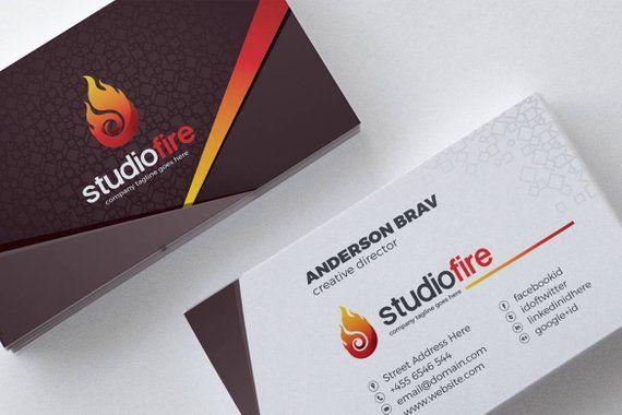 Business Card Template Business Card Design Business Card Etsy In 2021 Printing Business Cards Business Cards Corporate Identity Custom Business Cards