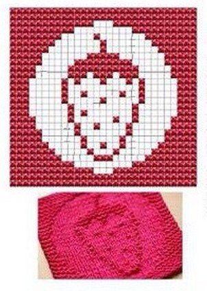 Strawberry Knit Dish cloths Pattern